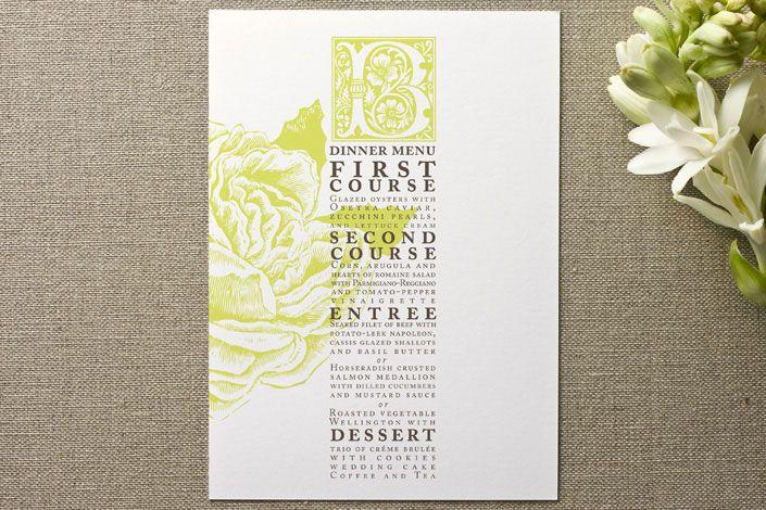 I love this menu card! Rose Garden Menu by LOVEkacie | Minted