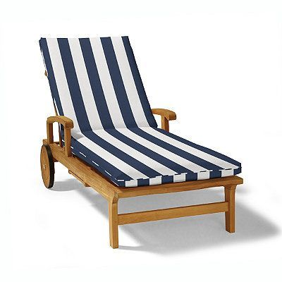 Single Piped Outdoor Chaise Cushion