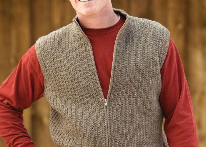 Men's Crochet Vest Pattern: October Vest by Tracy St. John