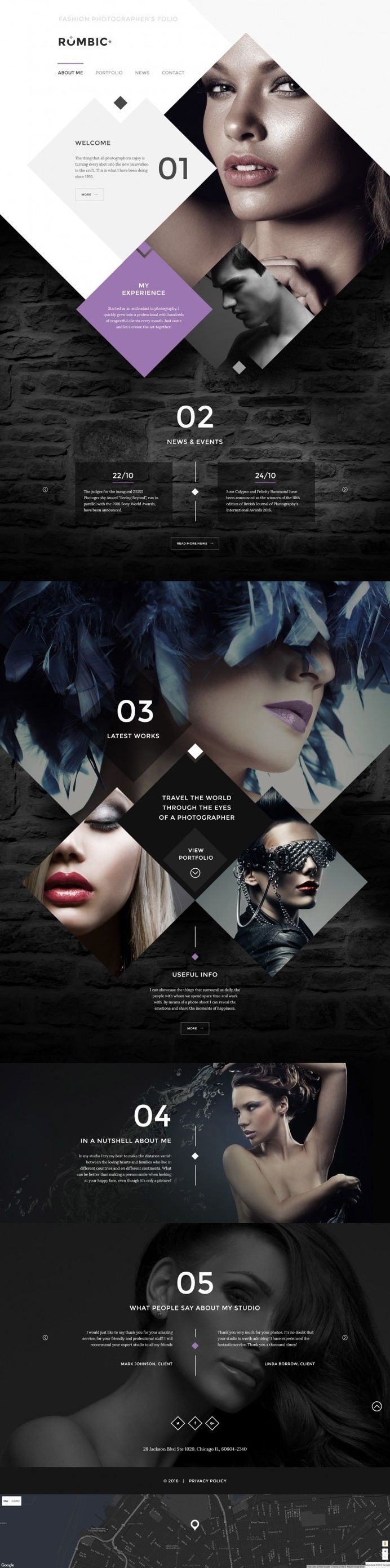 Rombic Website Template in Web design