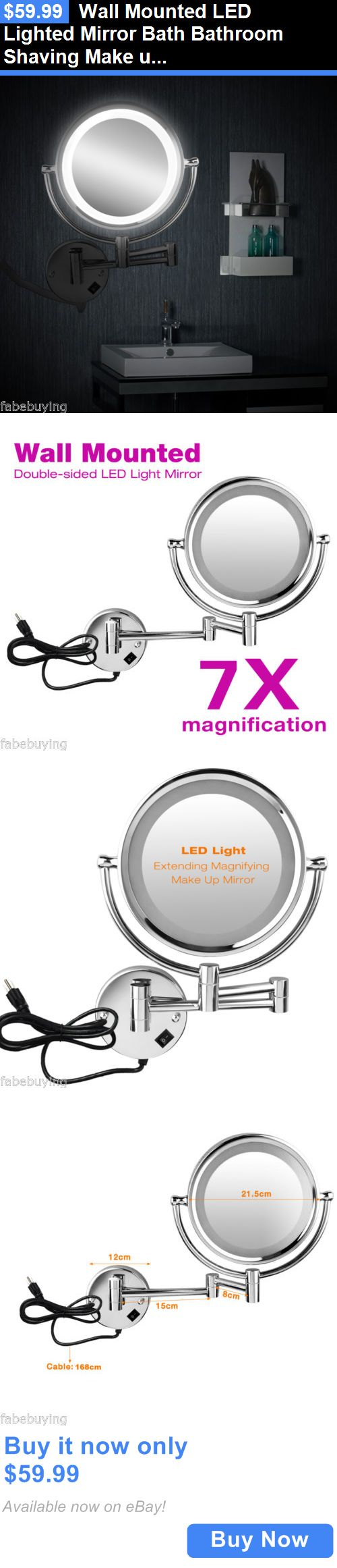 Wall mounted magnifying mirrors for bathrooms - Makeup Mirrors Wall Mounted Led Lighted Mirror Bath Bathroom Shaving Make Up Magnifying Mirror Buy