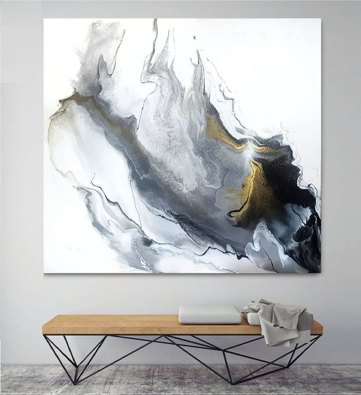 "103 отметок «Нравится», 3 комментариев — Modern Emulsions - Magda Assaf (@modernemulsions) в Instagram: «'Fire Within' | 48""x48"" | Mixed media on cradled birch panel | Monochrome with silver and gold…»"