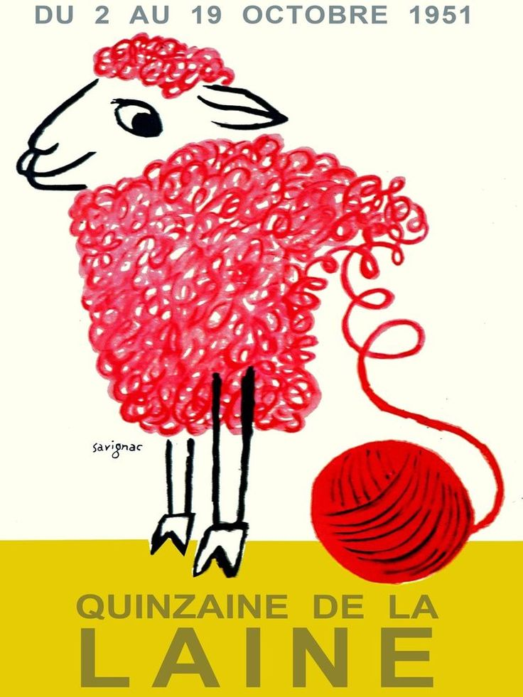 3076.Red Sheep Quinzaine de la Laine POSTER.Home Cotton Shop Room Art decor.