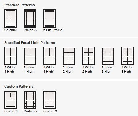Andersen Windows Double Hung Grille Patterns For The