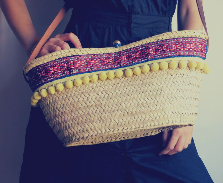 Straw bag boho style #trends #summer #bags