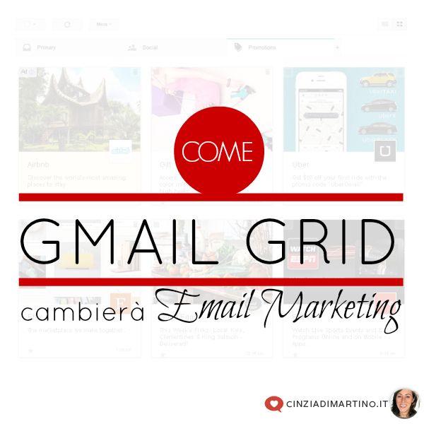 Dopo il Tab delle promozioni, novità in arrivo nelle nostre caselle di posta: con Gmail Grid ogni comunicazione diventa Email Marketing!
