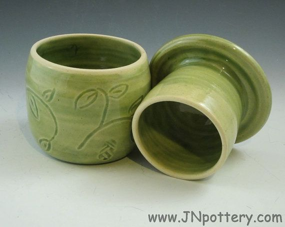 Ceramic / Stoneware Butter Crock / French Style by JNpottery, $26.00