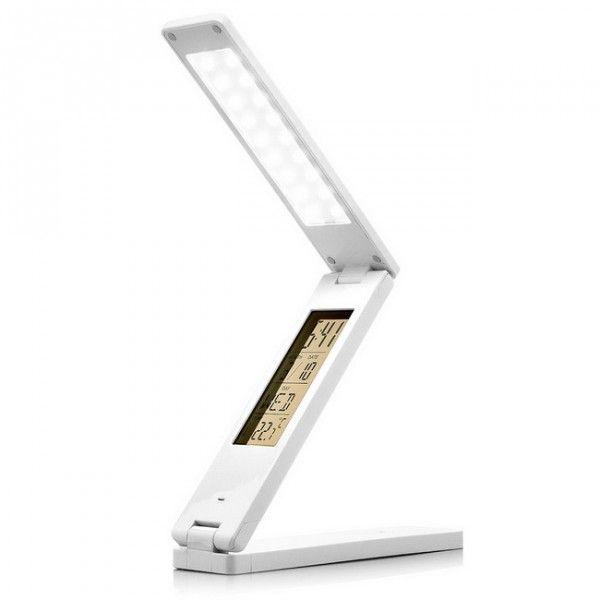 LED Tischlampe Mit Uhr   Weiß