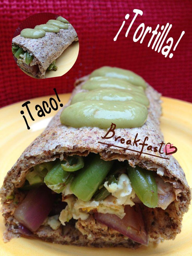 Tacos de linaza