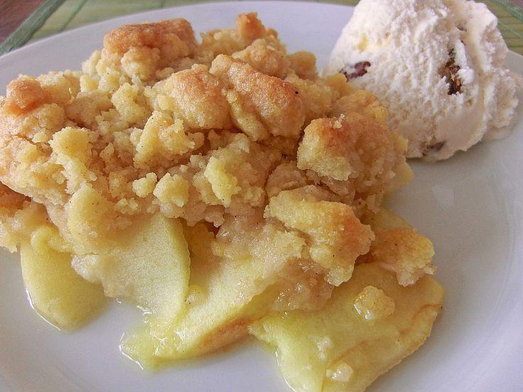 Apple Crumble, ein raffiniertes Rezept aus der Kategorie Dessert. Bewertungen: 468. Durchschnitt: Ø 4,6.
