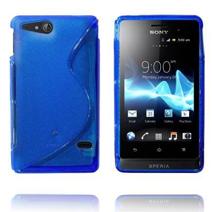 Läpikuultava S-Line (Sininen) Sony Xperia Go Suojakuori