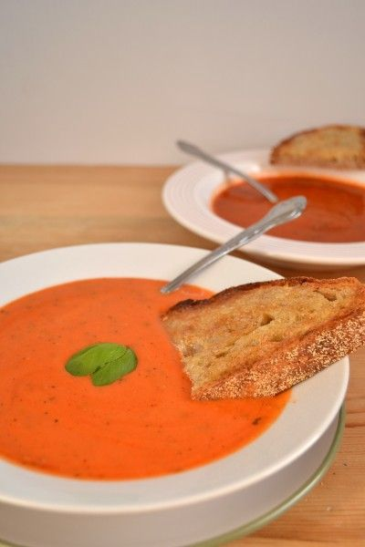 Simple Tomato Soup - Made this today! It's fabulous & easy! Adapted recipe with addition of 1 cup chicken stock, fresh Italian parsley, fresh basil, and skim milk mixed with a tblsp of flour. Tastes just like creamy tomato basil bisque!