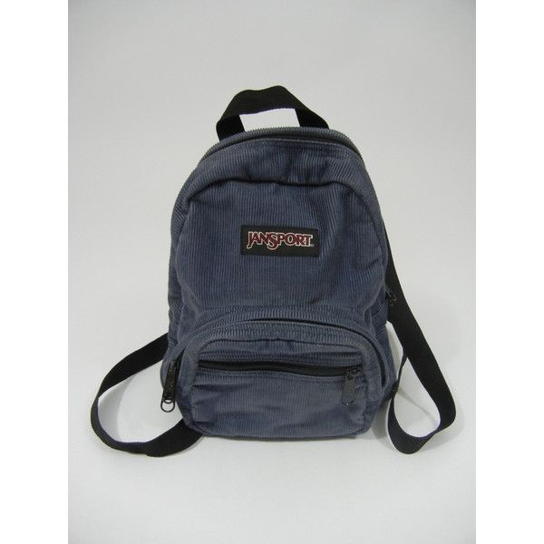 Vintage Mini Backpack, Jansport, Corduroy, Grunge, 90's, Tumblr, My So... (19 CAD) ❤ liked on Polyvore featuring bags, backpacks, mini bags, day pack backpack, backpack bags, blue backpack and vintage backpacks