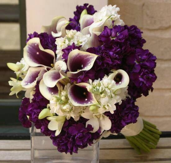 Purple / plum wedding bouquets