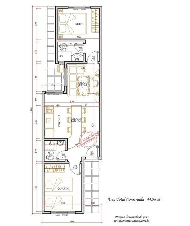 Como decorar apartamento com planta estreita e comprida for Como decorar un apartamento