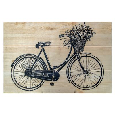 Pine Plank Bicycle Print - 24