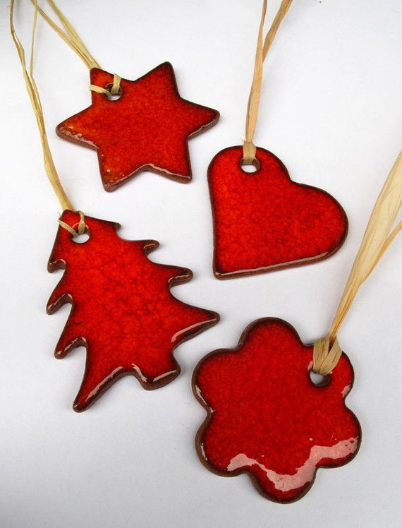 Christmas Red Tree Heart Star Flower Gift Tag by mychristmastree, $19.00