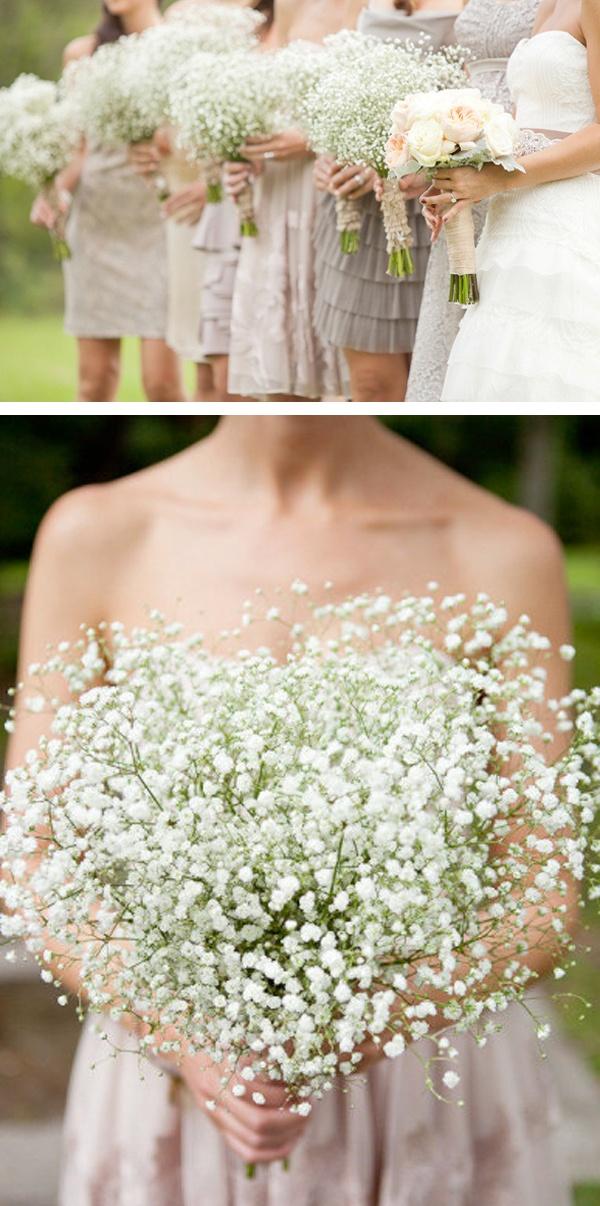 babys breath wedding bouquet