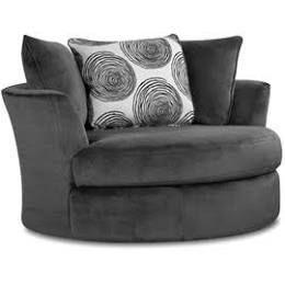 Leesburg Swivel Barrel Chair Alcott Hill Upholstery: Smoke