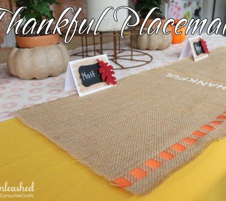 Thankful Thanksgiving Placemats