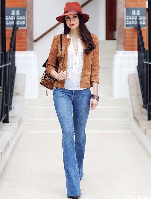 модные джинсы 2015 - расклешенные джинсы
