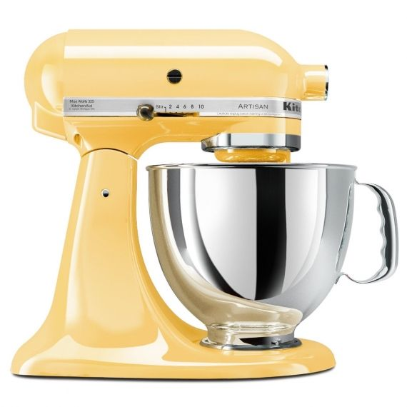 KitchenAid Stand Mixer:      A smaller version of commercial mixers,  this is an indispensable tool for home cooks everywhere.  Used to mix,  beat,  knead,  whisk  and stir,  this tool is worth every penny. KitchenAid  Artisan Stand Mixer,  $ 400, available across Canada in multiple colours.      --   Amy Bronee, Family Feed Bag