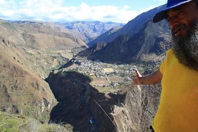 Vista de El Pedregal desde la vereda Inantas Bajo, municipio de Yacuanquer, departamento de Nariño, Colombia.  Qhapaq Ñan - Colombia