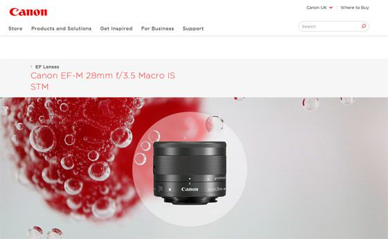 Сенсационный объектив Canon EF-M 28mm f/3.5 STM с кольцевым осветителем