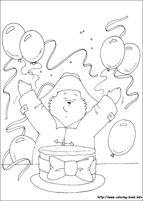 paddington bear coloring pages