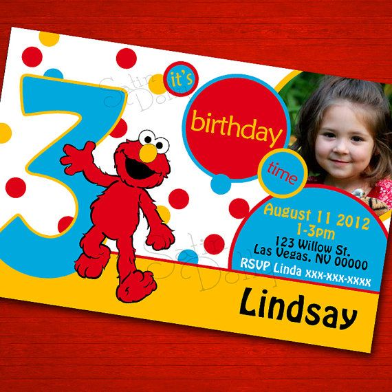 43 best MeganElmoFiesta images – Custom Elmo Birthday Invitations