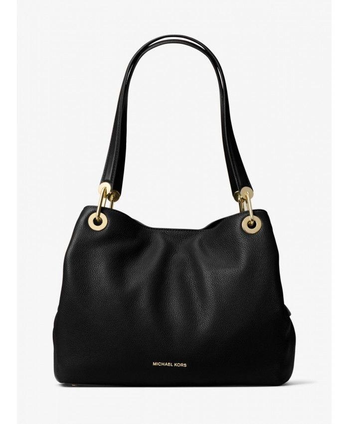 101998e11183 Michael Kors Black Raven Large Leather Shoulder Bag 30H6GRXE3L-0001 ...