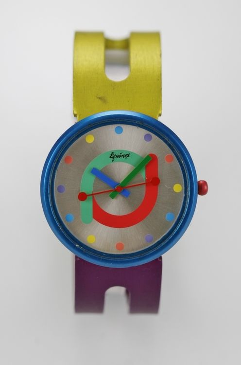 Equinox Watch Unisex Colorful Stainless Steel Silver Water Resistant Quartz