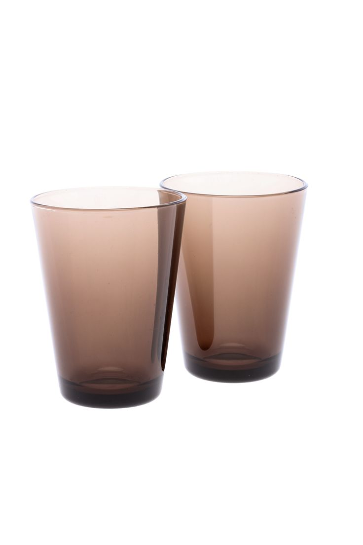 Designed by Kaj Franck is the set of two auburn Iittala drinking glasses. The Finnish company brings authentic Scandinavian design to functional drinkware. 13 oz.   Iittala Cup Set by iittala. Home & Gifts - Home Decor - Dining - Glassware Buffalo, New York