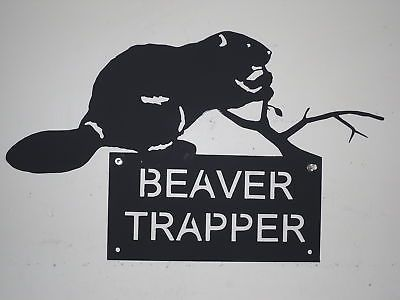 Vintage Traps 71143: Beaver Trapper Sign Heavy Metal Trap Fur Trap BUY IT NOW ONLY: $37.0