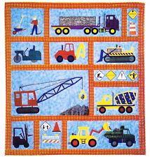 children's quilt patterns   Under Construction - fun pieced & applique kids quilt PATTERN