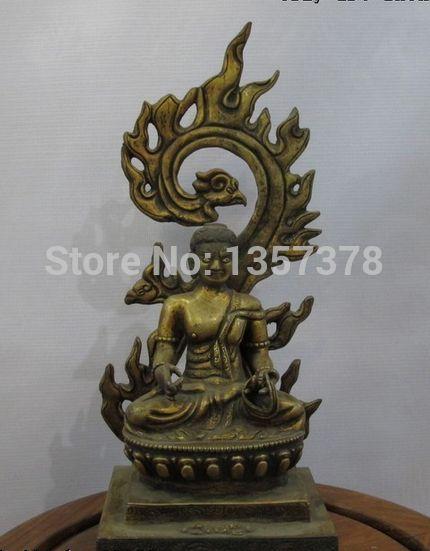 shitou 00449 Tibet Nepal Fane 100% Bronze Gold Acalanatha Buddha Buddhism Patron saint Statue #Affiliate