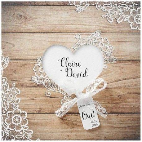 Faire-part mariage romantique chic bois fleurs dentelle Belarto Love 726003