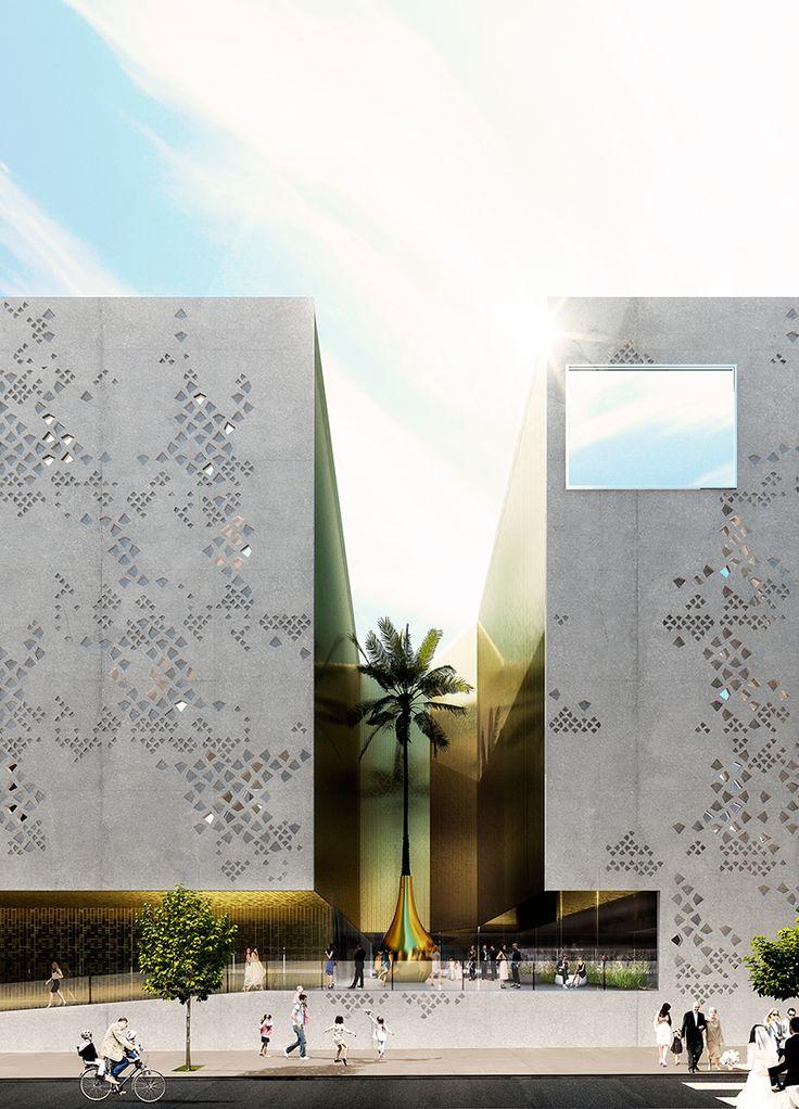 Detalle, visualización del exterior. Imagen cortesía de Mecanoo.