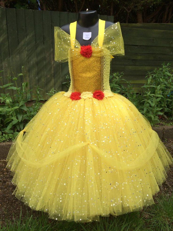 Princesa Belle vestido belleza y la bestia tutú largo Belle