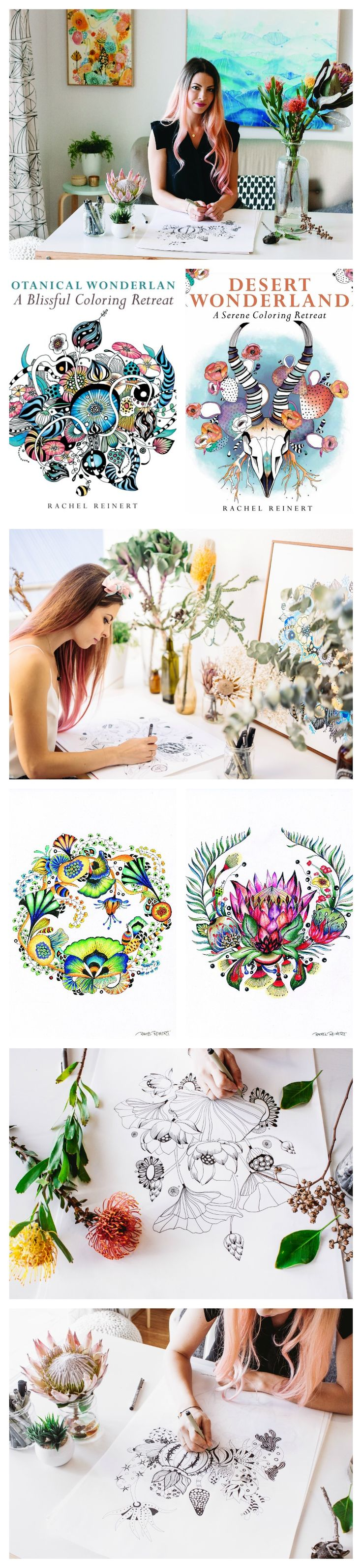 Book color illustrator - Illustrator Of The Popular Adult Coloring Book Botanical Wonderland Rachel Reinert Talks To Us About Her Favorite Tools To Color And Latest Projects