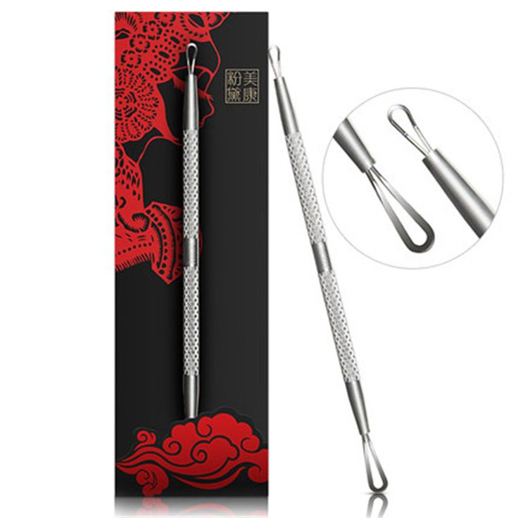Brand Health Skin Care Superior Quality Stainless Steel Beauty Tool Double Head Blackhead Remove Treatment Acne Removal Needle