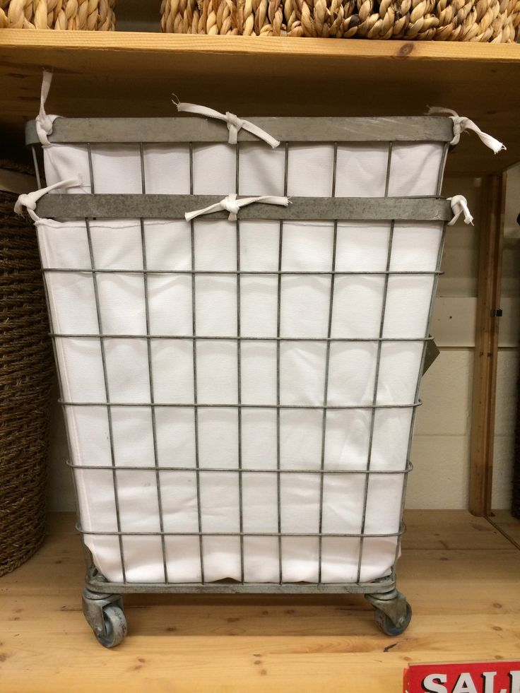 Metal Hamper On Wheels From World Market Laundry