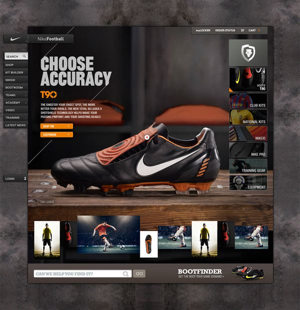Nike Bootroom by Rodrigo Sobral, via Behance
