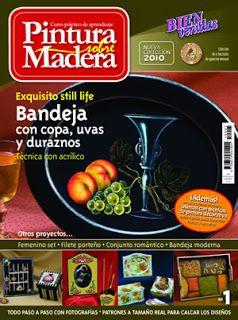 Revistas de Manualidades Para Descargar: Pintura sobre Madera N°1 2010