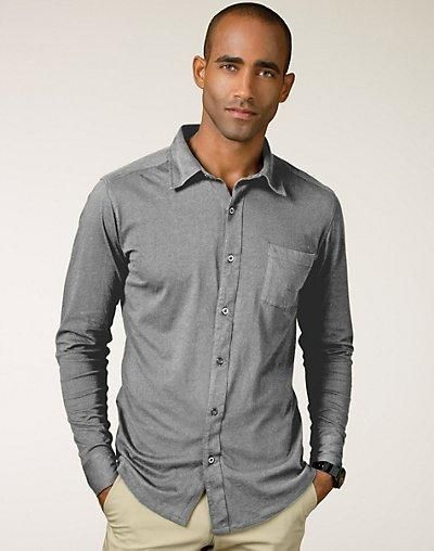 Why shouldn't all your clothes be as easy to wear and comfortable as your favorite T-shirt? This button-front shirt is a big step in that direction.Ultimate work to weekend shirt with... More Details