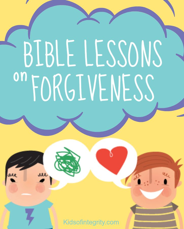Fun, FREE Bible lessons on forgiveness. Everything from crafts to Bible stories to memory verses and hands-on activities. This is a fantastic site with 15 other character traits to choose form!