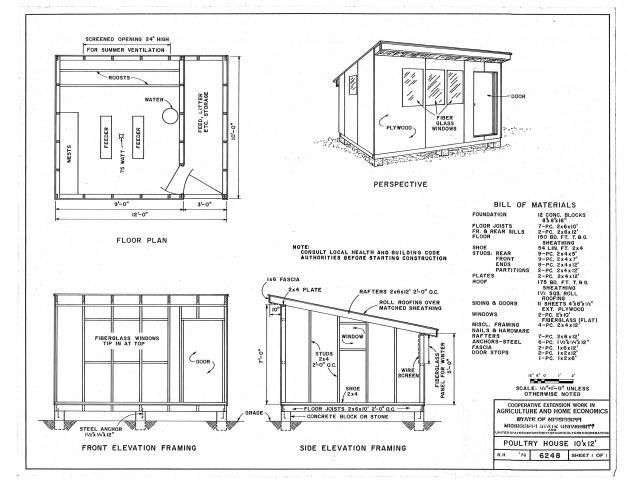 Chicken house building plans free