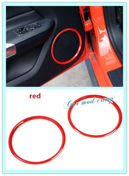 New! For Ford Mustang 2015-2017 ABS Interior Inner Side Door speaker frame cover decoration trim