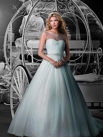 """A """"Cinderella""""-inspired ball gown by Alfred Angelo for brides who want to feel like a princess"""