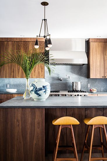 Serene kitchen by designer Benjamin Vandiver // #kitchen #wood #interiors